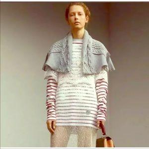 Burberry Women's gray cotton jersey cape NWOT